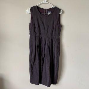 MaxMara purple linen sleeveless pleated dress